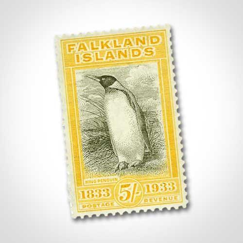 Falkland-Islands-King-Penguin-Stamp