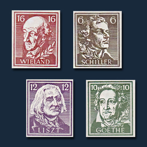 Famous-Authors-on-the-Stamps-of-Thuringen