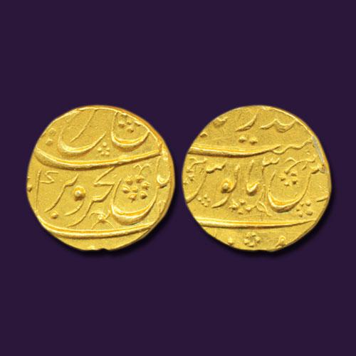 Farrukhsiyar-Gold-Mohur-Sold-For-INR-1,20,000