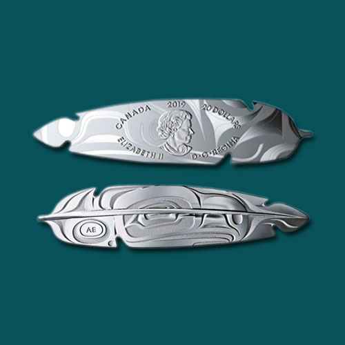 Feather-Shaped-Coin-of-the-Royal-Canadian-Mint