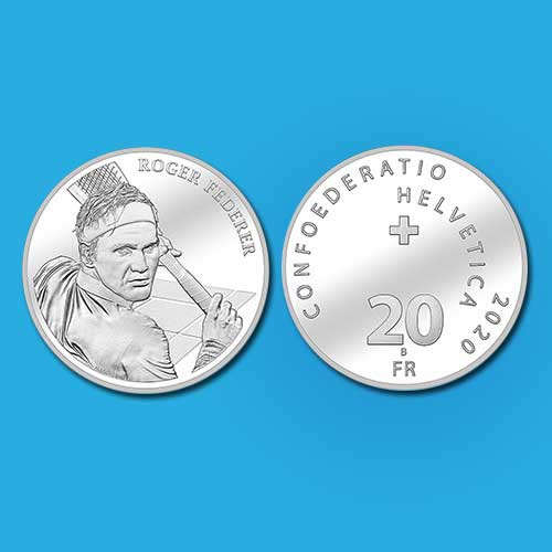 Federer's-Face-on-a-Swiss-Coin