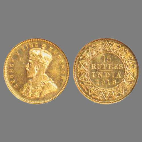 Fifteen-gold-Rupee-of-British-India-sold-for-INR-2,00,000