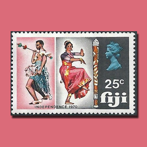 Fiji-Independence-Stamp-Featuring-Traditional-Dances