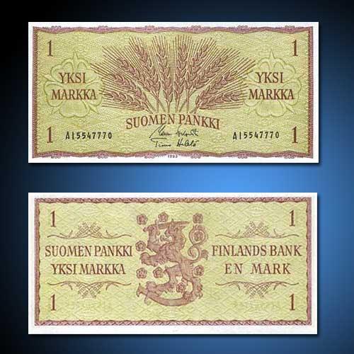 Finland-1-Markka-banknote-of-1963