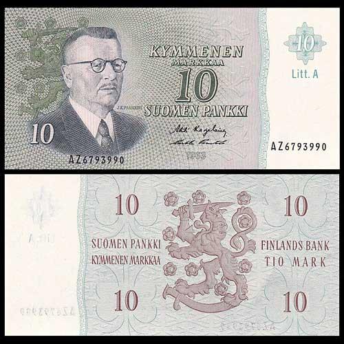 Finland-10-Markka-banknote-of-1963