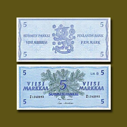 Finland-5-Markka-banknote-of-1963