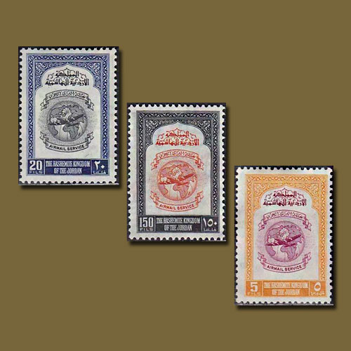 First-Airmail-Stamps-of-Jordan