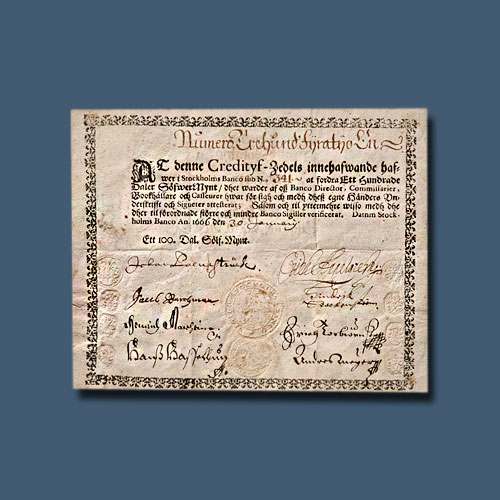 First-Banknotes-of-European-Bank