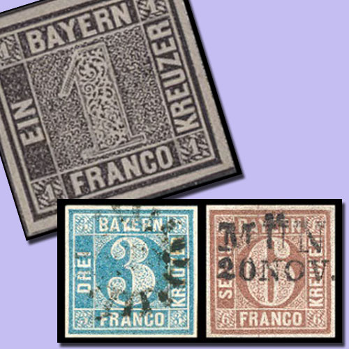 First-Bavarian-Stamps
