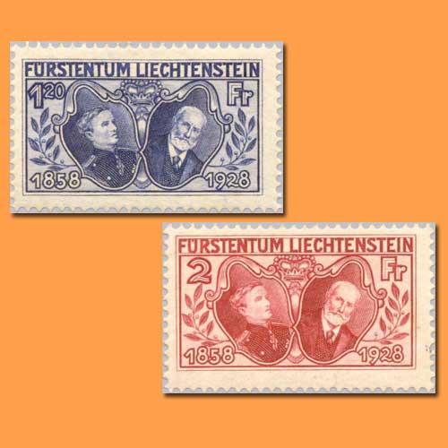 First-Commemorative-Stamps-of-Liechtenstein