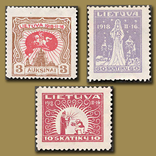 First-Commemorative-Stamps-of-Lithuania