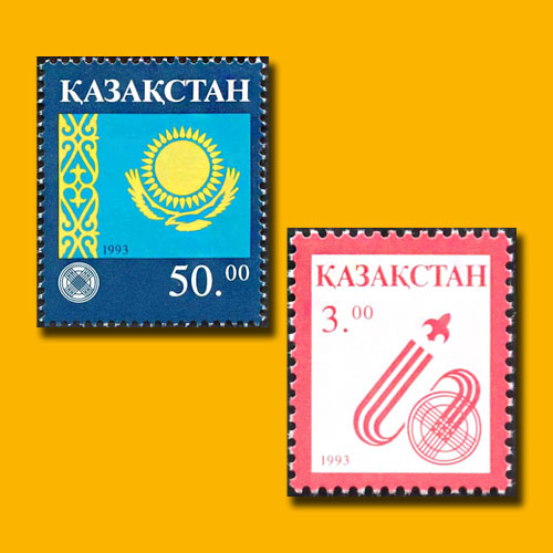 First-Definitive-Stamps-of-Kazakhstan