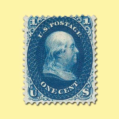 First-design-1c-Indigo-stamp-