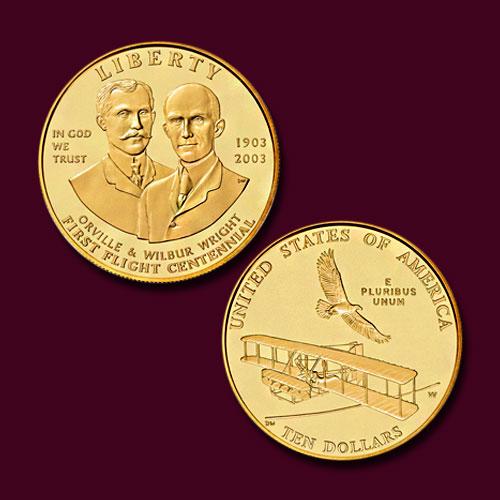 First-in-Flight-Centennial-Commemorative-Five-Dollar-Gold-Coin