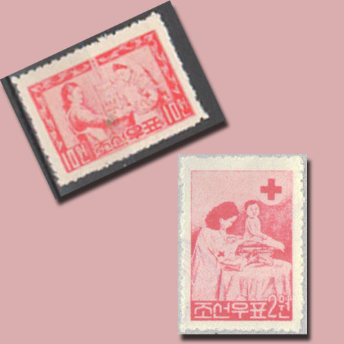 First-Red-Cross-Stamps-of-North-Korea