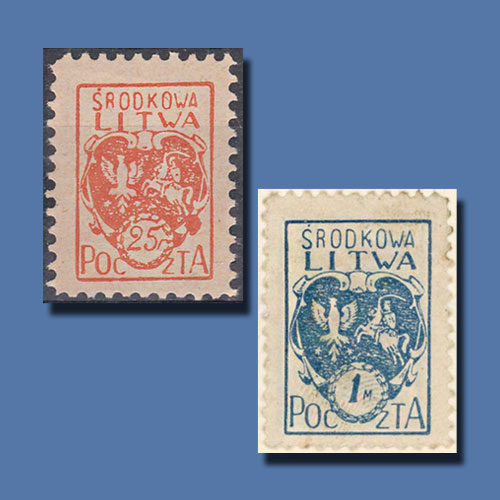 First-Stamps-of-Central-Lithuania