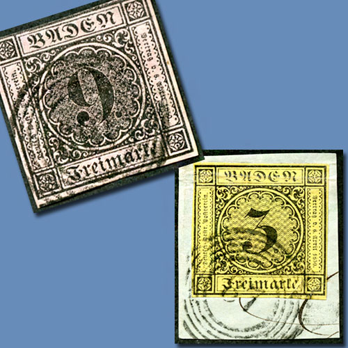 First-Stamps-of-Grand-Duchy-of-Baden