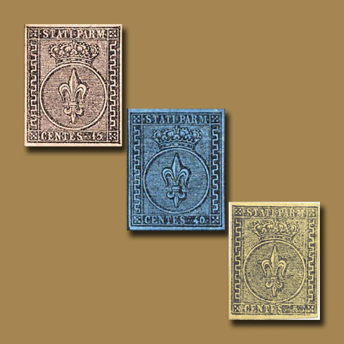 First-Stamps-of-Italian-State-of-Parma
