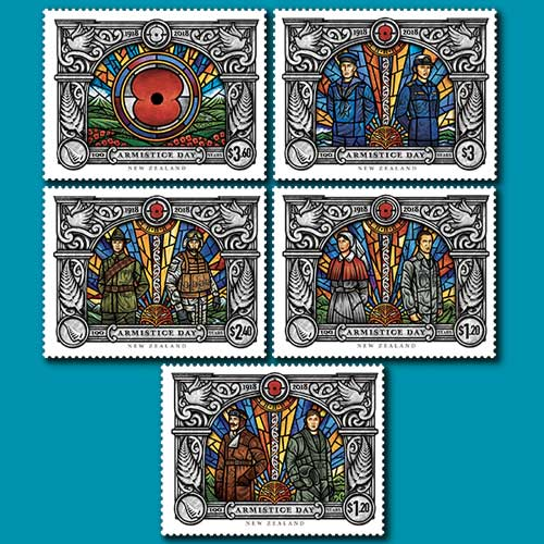 Five-Armistices-on-New-Zealand-Stamp