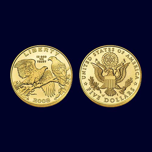 Five-Dollar-Commemorative-Coin-on-Bald-Eagle