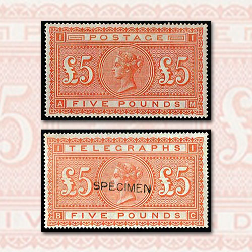 Five-Pound-Orange-Stamp-of-UK