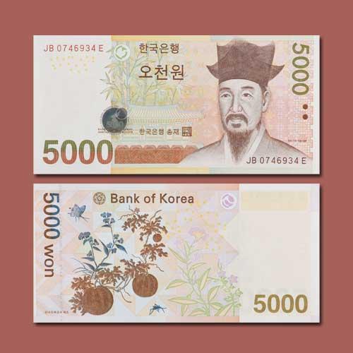 Five-Thousand-South-Korean-Won