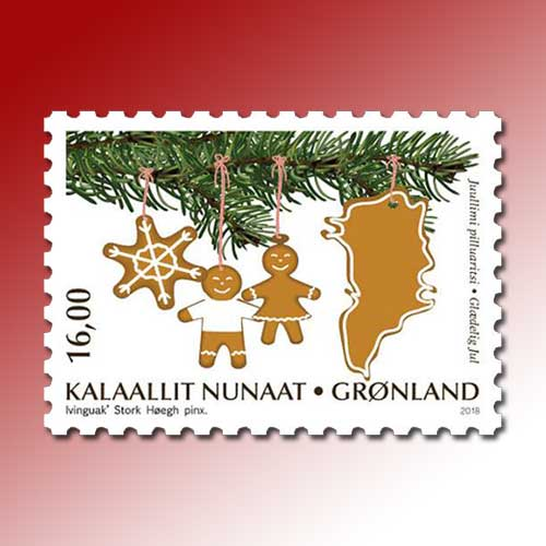 Fragrance-stamp-released-by-Greenland-Post-for-Christmas