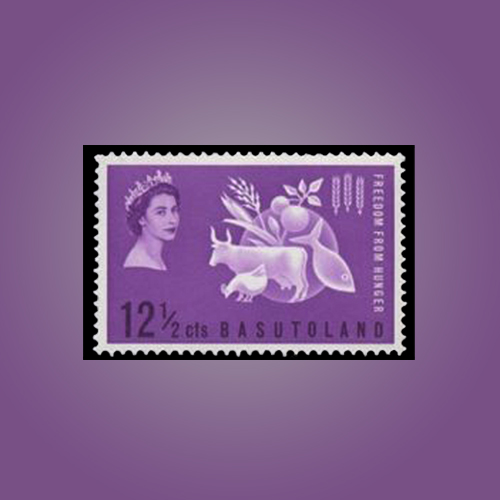 'Freedom-from-Hunger'-Stamp-of-Basutoland