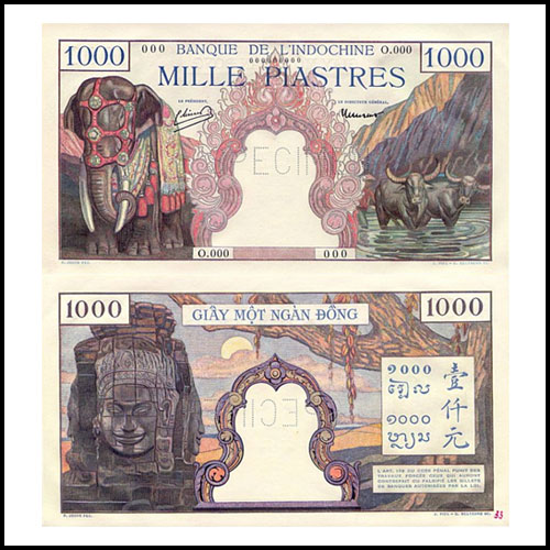 French-Indochina-1000-Piastres-banknote-of-1951