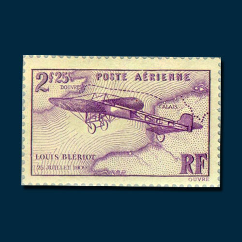 French-Stamp-Depicting-the-25th-Anniversary-of-the-Channel-Crossing-by-Louis-Bleriot