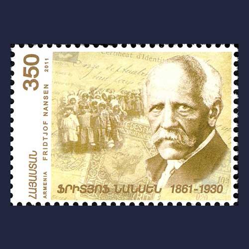 Fridtjof-Nansen-honored-on-stamp