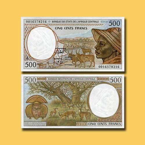 Gabon-500-Francs-banknote-of-1993-2000