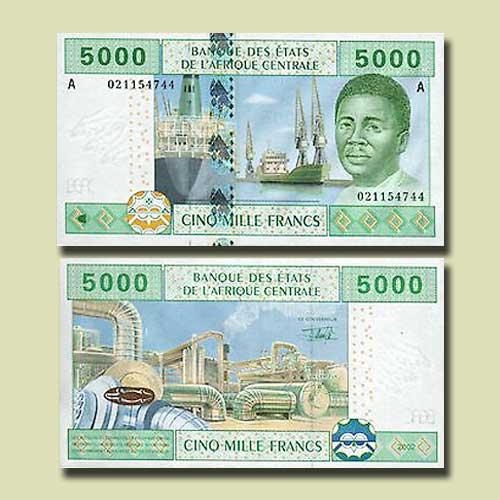 Gabon-5000-Francs-banknote-of-2002