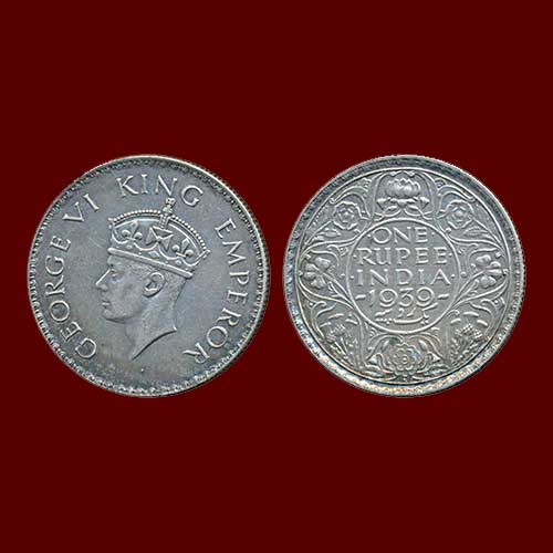 George-VI-Silver-Rupee-Listed-For-INR-400,000