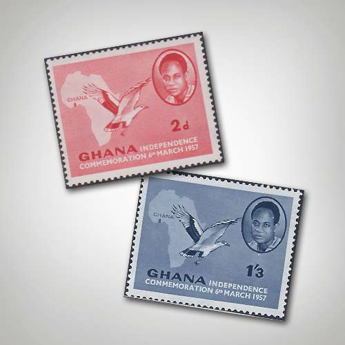 Ghana's-Independence-Commemoration-Stamps