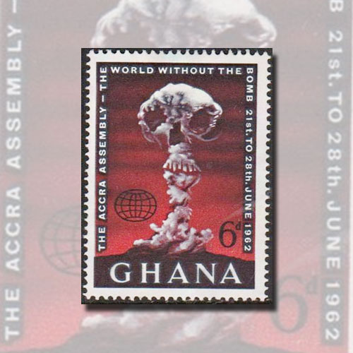 Ghana's-'World-without-the-Bomb'-Stamp