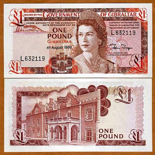 Gibraltar-1-Pound-banknote-of-1988