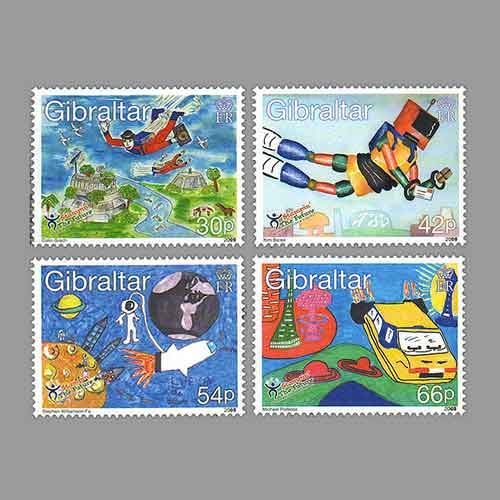 Gibraltar's-Future-Depicting-Stamps