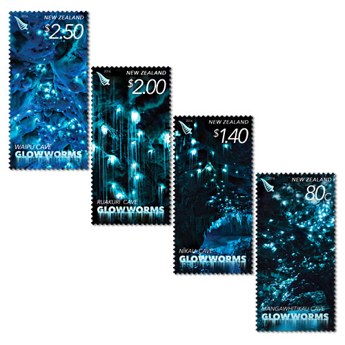 Glow-worm-stamps-of-New-Zealand