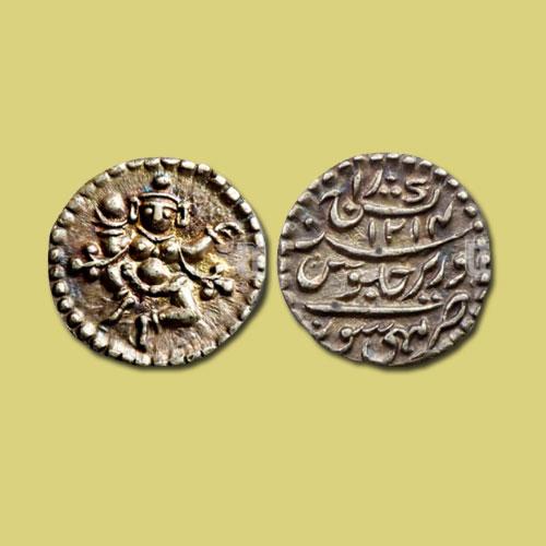 God-Bal-Krishna-holding-Butter-on-Mysore-Coin