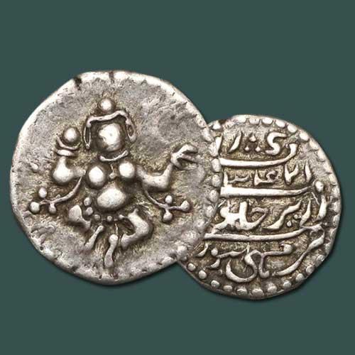 Goddess-Chamunda-on-Wodeyar-Coins
