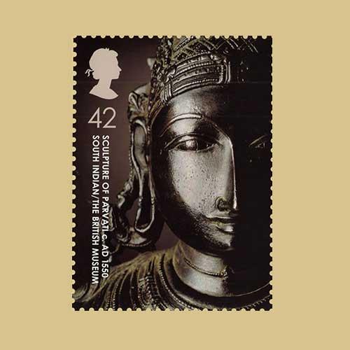 Goddess-Parvati-on-British-Stamp