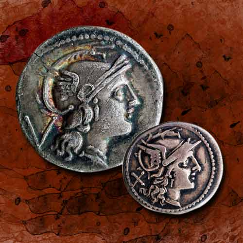 Goddess-Roma-on-Roman-Coins