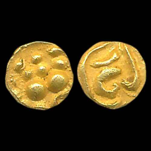 Gold-¼-Fanam-of-Chalukyas