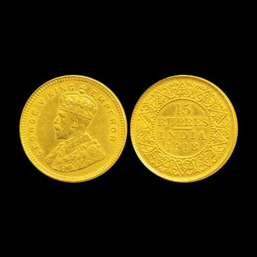 Gold-15-Rupee-of-George-V-of-British-India
