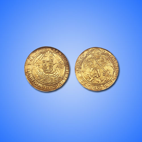 Gold-Angel-coin-from-King-Henry-VIII's-reign-