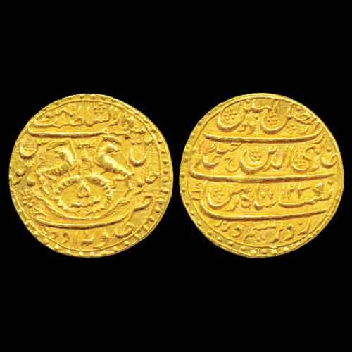 Gold-Ashrafi-of-Ghazi-ud-din-Haider