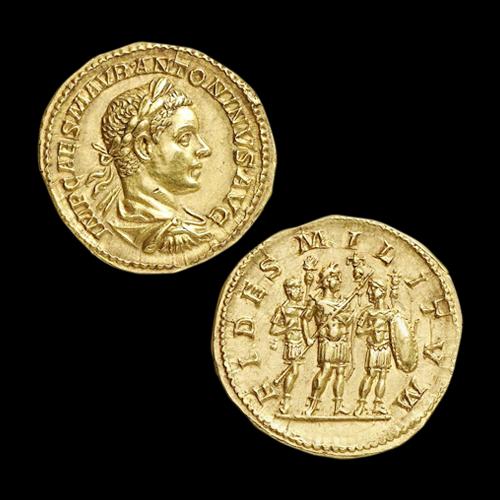 Gold-Aureus-of-Emperor-Elagabalus