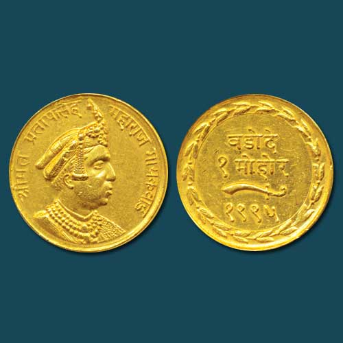 Gold-coin-of-Baroda-Princely-State