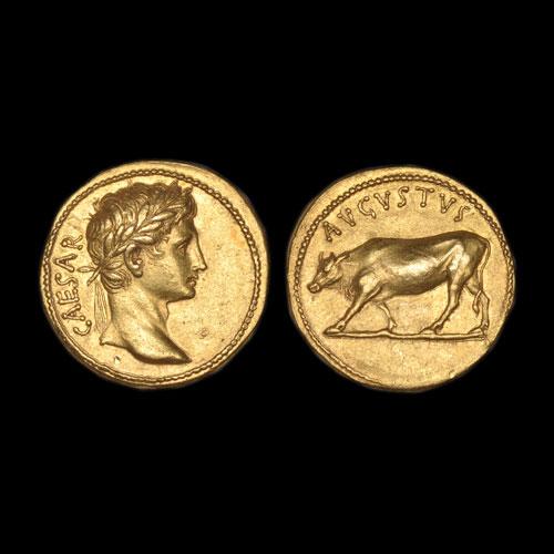 Gold-coin-of-Emperor-Augustus-